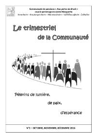 Trimestriel de la communauté